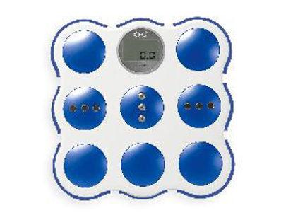 Immagine di Bilancia pesapersone elettronica, capacità pesata massima 180 kg, divisione 100 gr, 3  colori assortiti.