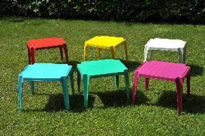 Immagine di tavolo impilabile per bambini baby, impilabile in polipropilene, colori assortiti, dimensioni cm. 56x52 h. 44, peso kg. 2,25