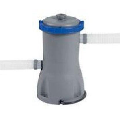 Immagine di pompa filtro bestway flowclear, potenza 32watt, tensione 220-240volt, portata 3.028l/h, sistema di filtraggio 2.195 mc/h, attacco tubo diametro mm.32, usa cartuccia articolo 58094